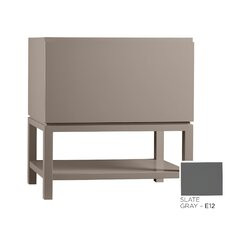 Contempo Jenna Wood Cabinet Vanity Slate Gray Base by Ronbow