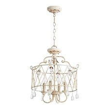 Jaune 4-Light Metal Candle-Style Chandelier