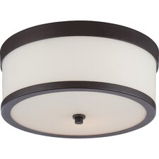 Triangulum 2-Light Flush Mount