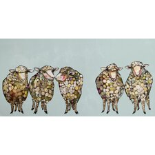 '5 Woolly Sheep' by Eli Halpin Graphic Art on Wrapped Canvas