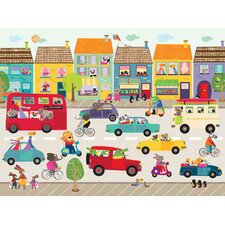 Fun Street Frenzy Canvas Art