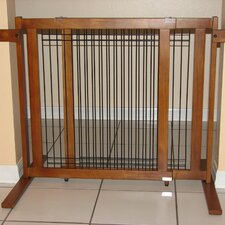Tall Freestanding Wood & Wire Pet Gate