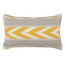 Ikat Stripe Outdoor Lumbar Pillow