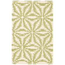 Aster Hooked Green Area Rug