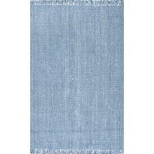 Chunky Hand-Woven Blue Area Rug