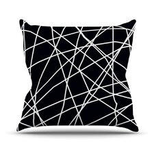 Paucina by Trebam Crazy Lines Throw Pillow