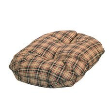 Classic Check Quilted Pet Mattress in Brown