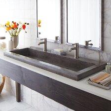 """Trough Stone 48""""Trough Bathroom Sink"""