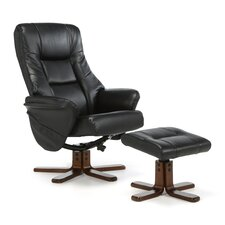 Agery Massage Recliner and Footstool