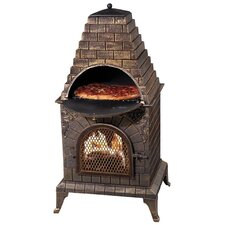 Aztec Allure Pizza Oven Outdoor Fireplace