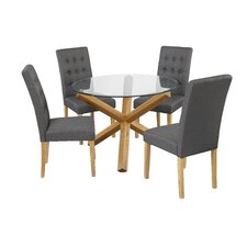 Oporto Dining Table and 4 Chairs