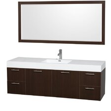 Amare 72 Single Espresso Bathroom Vanity Set with Mirror by Wyndham Collection