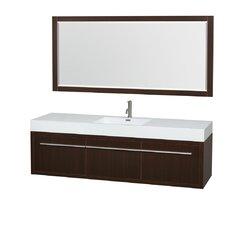 Axa 72 Single Espresso Bathroom Vanity Set with Mirror by Wyndham Collection