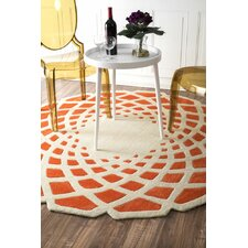 Cine Orange Crystal Area Rug