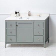 Briella 48 Bathroom Vanity Cabinet Base in Ocean Gray by Ronbow