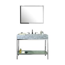 "Brightwater 48"" Single Bathroom Vanity Set with Mirror"