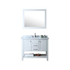 "Babineaux 42"" Single Bathroom Vanity Set with Mirror"