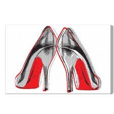 Fire in Your New Shoes Graphic Art on Wrapped Canvas