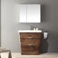 """Milano 31.5"""" Single Sink Modern Bathroom Vanity Set"""