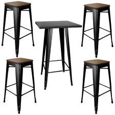 Racheal Loft 5 Piece Pub Table Set
