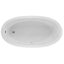Oval End Drain 72 x 36 Whirlpool Bath by Reliance Whirlpools