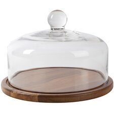 Bistro & CO Kainuu Glass Domed Acacia Serving Board
