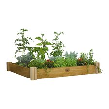 Modular 4 ft x 4 ft Wood Raised Garden