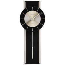 Pendulum Glass and Metal Wall Clock