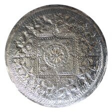 Krish Etched Metal Disc Wall Decor