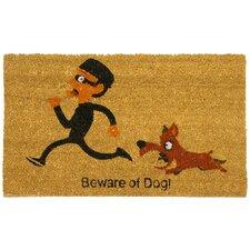Beware of Dog Funny Welcome Doormat