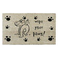 Wipe Your Paws Dog Animal Doormat
