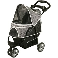 Promenade Standard Pet Stroller in Black & White