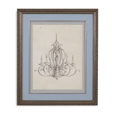Classical Chandelier I Framed Painting Print
