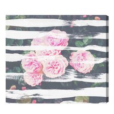Blooming Strokes Painting Print on Wrapped Canvas