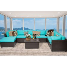 Belle 9 Piece Sectional Seating Group With Cushion