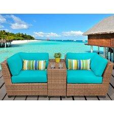 Laguna 3 Piece Lounge Seating Group with Cushion