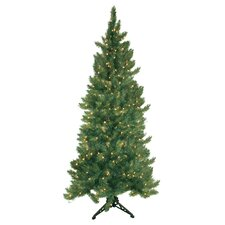 6.5' Pre-Lit Corner Tree with Clear Lights