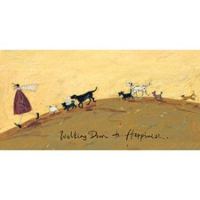'Walking Down to Happiness' by Sam Toft Framed Wall art on Canvas