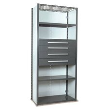 V-Grip 84 Shelving with Drawers Unit - 4Drw/5Shelf Closed Starter,  4 drawers - (2) 4.5 & (2) 6 H; 200 lb capacity by Equipto