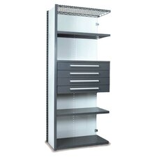 V-Grip 84 Shelving with Drawers Unit - 4Drw/5Shelf Closed AddOn, 4 drawers - (4) 4.5 H; 400 lb capacity by Equipto