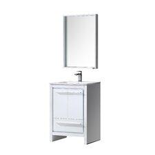 "Allier 24"" Single Bathroom Vanity Set with Mirror"