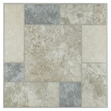 "Tivoli Marble Blocks 12"" x 12"" x 1.2mm Luxury Vinyl Tile"