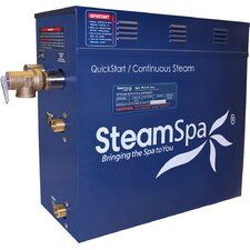 Royal 6 kW QuickStart Steam Bath Generator Package with Built-in Auto Drain by Steam Spa