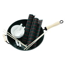 11 Piece Non-Stick Carbon Steel Wok Set