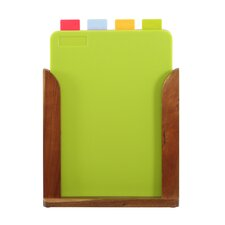 4 Piece Chopping Board with Stand Set