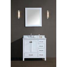Bella 42 Single Bathroom Vanity Set with Mirror by Ari Kitchen & Bath