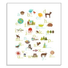 Nature Themed Woodland Alphabet Poster