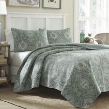 Turtle Cove Lagoon Reversible Quilt Set by Tommy Bahama Bedding