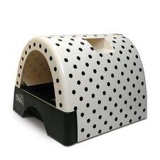 Designer Cat Litter Box with Polka Dot Cover