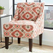 Lucy Ikat Swoop Side Chair by Zipcode Design